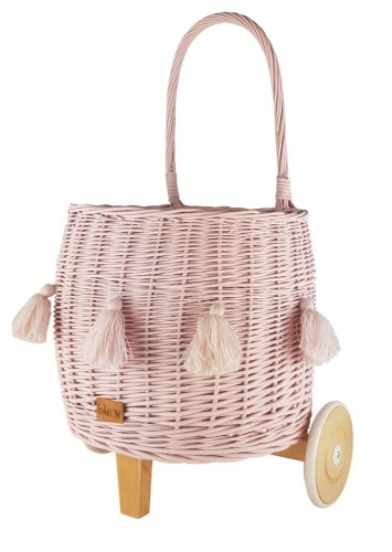 Pully Toys Basket In Pink Color